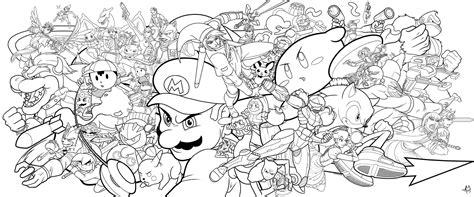 Super Smash Bros By Zombie Graves On Deviantart Color Page Smash Bros