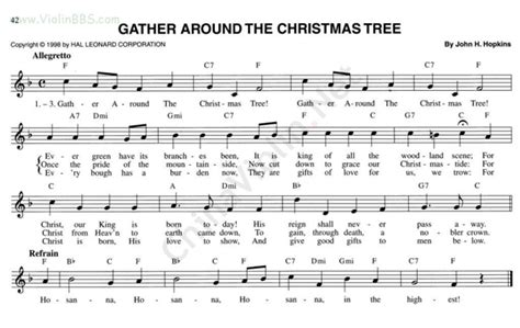 62 gather around the christmas tree 小提琴谱 搜谱网