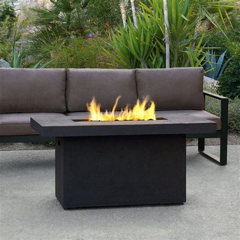 propane pit coffee table coffee table inch rectangular cast aluminum propane