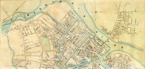 map lowell ma tangled trees map of lowell massachusetts c 1850