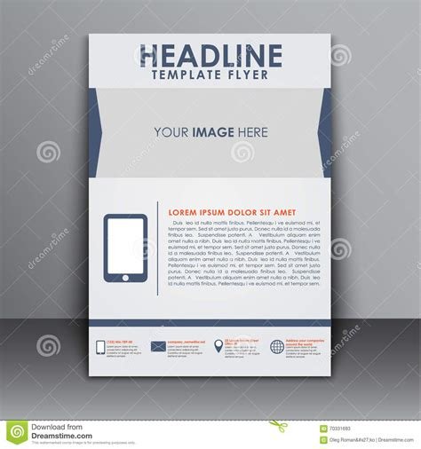 Template Flyer With Information For Advertising Stock Vector Illustration Of Layout Information Flyer Template