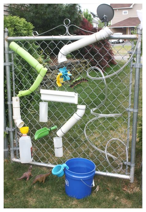 backyard water play homemade water wall summer water play for kids water