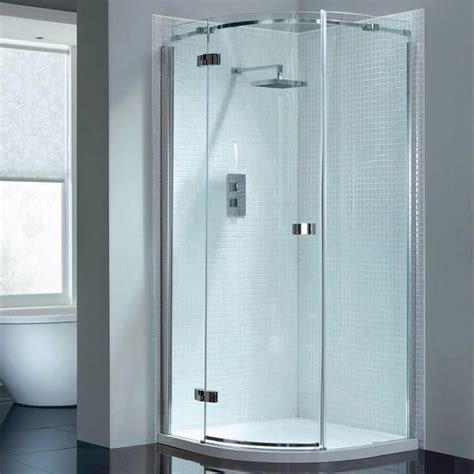 April Shower Doors April Prestige2 Frameless Single Door Quadrant Sanctuary Bathrooms