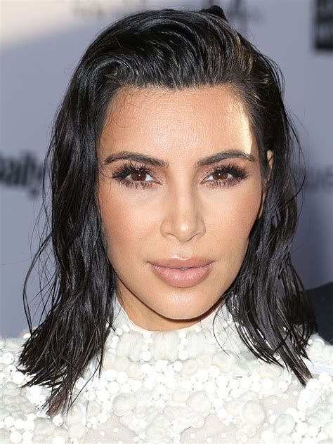 the wet look for black short hair pics kim kardashian s wet hair style get her daily