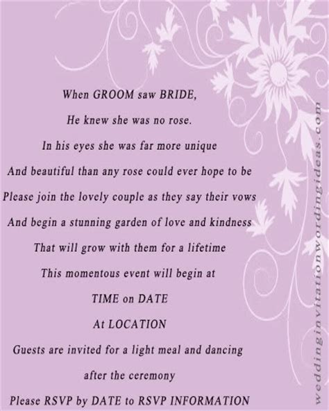 Wedding Invitation Sayings