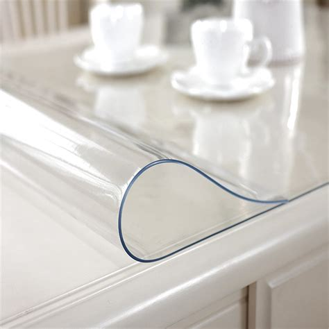 plastic table protector ostepdecor custom waterproof pvc protector for table desk