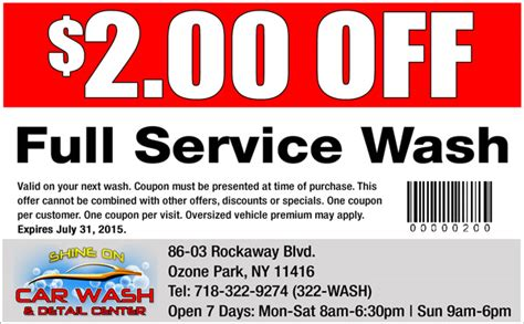 Interior Car Wash Coupons by Coupons Shine On Car Wash New York Cleanest Car Wash