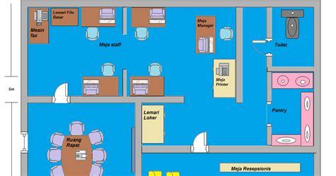 contoh layout kantor sederhana contoh tata layout kantor hendra v blog
