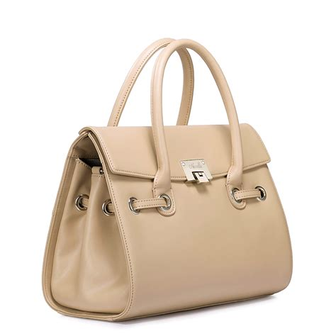 Khaki Handbag high quality leather handbag khaki