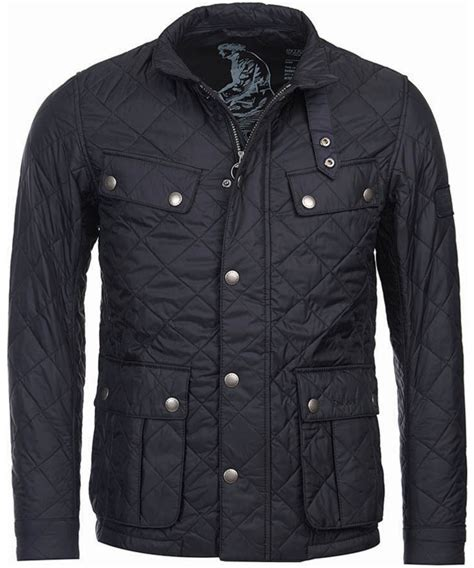 Leather Jaket Black Ariel s barbour international ariel quilted jacket