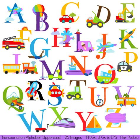 printable alphabet letters clip art transportation alphabet clipart clip art construction