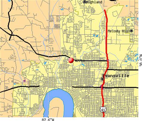 zip code map evansville in 47710 zip code evansville indiana profile homes