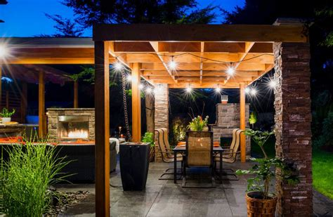 Pergola String Lights Set A Romantic Mood In Your Backyard Pergola String Lights