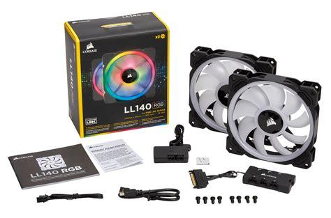 corsair rgb fans corsair ll140 rgb 120mm dual light loop pwm 2 fans
