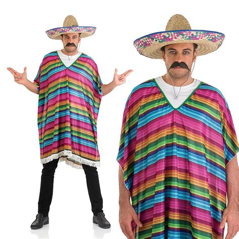 Fancy Stripe Dress 1 striped poncho fancy dress costume mexican amigo ebay