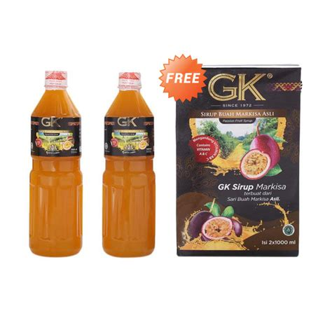 Sirup Markisa Gk Black Label 630ml jual sirup gk markisa black label 2x1000 ml