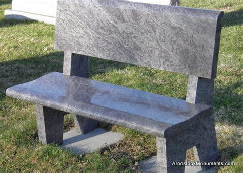 granite memorial benches maine aroostook monuments