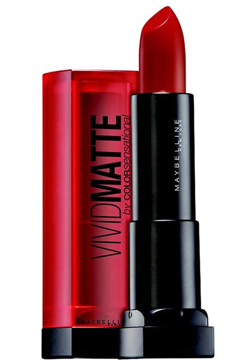 maybelline color sensational 1 scarlet matte lipstick review pretty obssessions