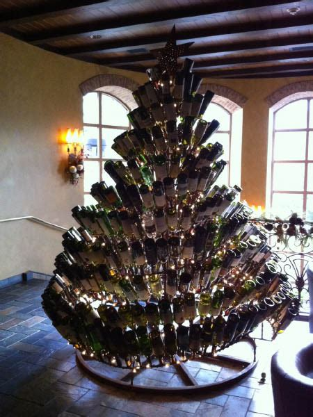 tree made of wine bottles gaylord texan cheap wintery afternoon makedoosies