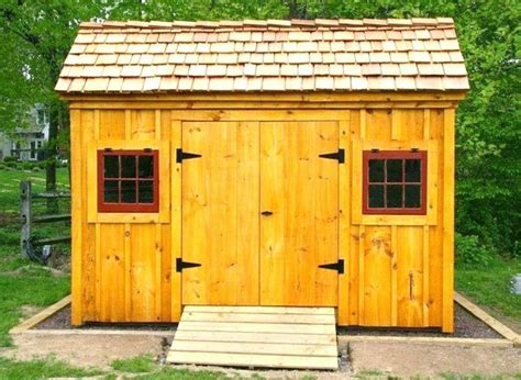 Wooden Shingles For Shed by 8 X 12 Saltbox Shed Optional Cedar Shake Shingles