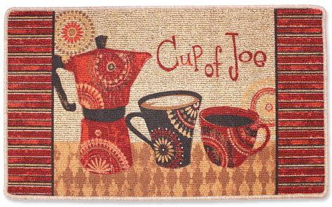 coffee cup kitchen rugs coffee kitchen rug cup of joe coffee decor accent rug 23 5 quot x40 quot