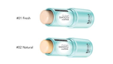 Maybelline Clear Smooth Shine Free Clear Stick Foundation maybelline clear smooth bb clear stick 2 types to choose