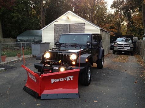 Snow Plow For A Jeep Wrangler 2013 Jeep Wrangler V Plow Plowsite