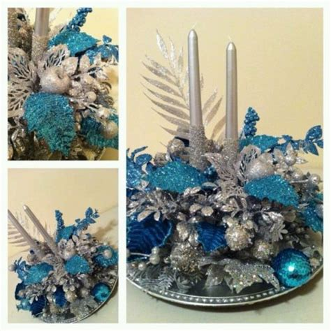 table decorations blue and silver blue and silver table decoration for with candle