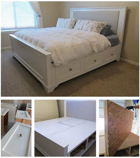 diy king size bed 25 easy diy bed frame projects to upgrade your bedroom