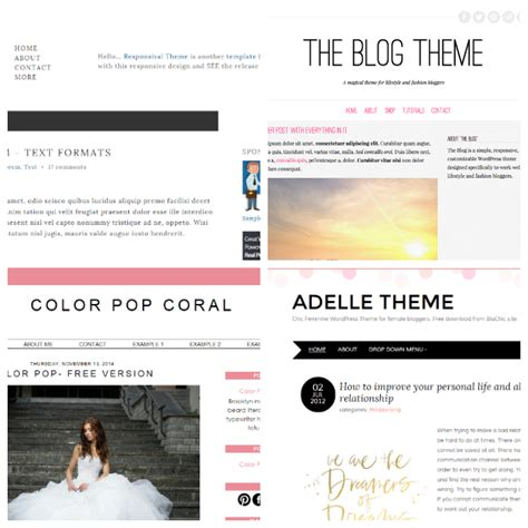 free templates for blogger beauty five of the best free blog templates oh zoe