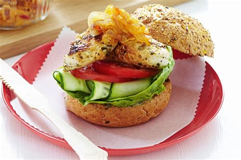 Sweety Comfort Gold L 4 chicken burgers with sweet chilli relish recipe