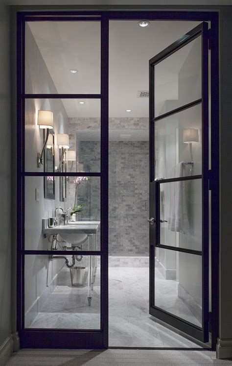 A Find Sashay Through The Showers In These Stylish Boots by Quot White Room Quot Interior Bathroom See Through Glass Door