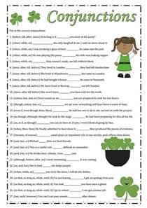 conjunctions worksheet free esl printable worksheets