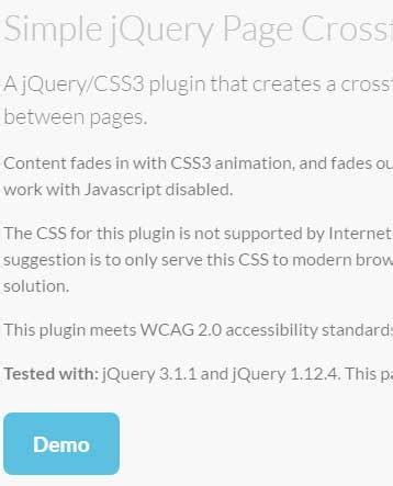 jquery swing effect 2 demos of css3 jquery fade effect between web pages