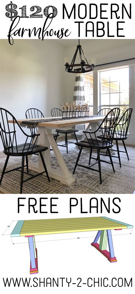 shanty to chic farmhouse table shanty to chic modern farmhouse table brokeasshome com
