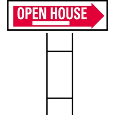 hy ko 10 in x 24 in plastic open house sign rs 803 the