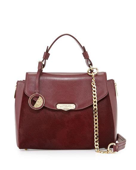 Versace Hair Calf Satchel by Versace Top Handle Leather Satchel Bag Bordeaux