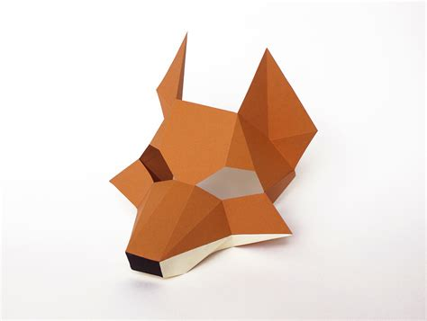 fox mask for diy printable paper animal mask for