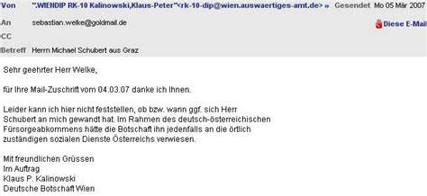 Mit Freundlichen Grüßen Mail Menschenverachtende Erfahrungen In Graz Eine Kleine Mail Auswahl 1