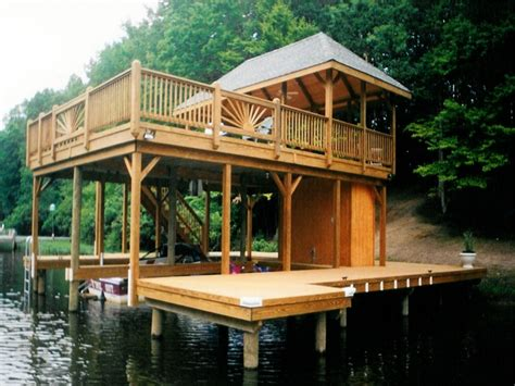 boat house accessories lake dock plans bing images