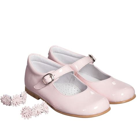 children s classics pink patent leather floral bar