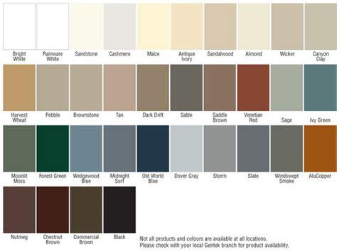classic colours aluminum soffit and fascia gentek building products