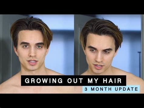 tips for awkward stages of growing out hair guys growing out my hair from an undercut 3 month update