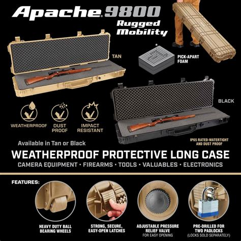 weatherproof protective rifle case long