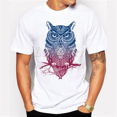 Owl Printed T Shirt newest 2016 s fashion sleeve warrior owl