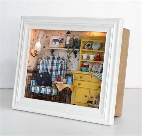dolls house picture frames cuteroom summer afternoon miniature diy 3d dollhouse doll house handmade wooden photo