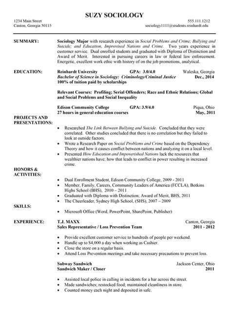 Resume Exles College Athlete Resume Exle Career Services Reinhardt College