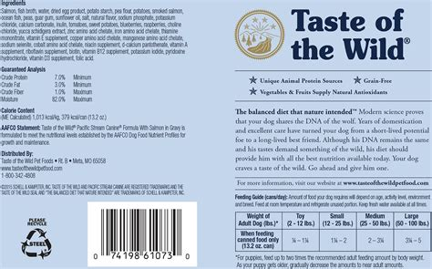 taste of the puppy taste of the pacific grain free canned food 13 2 oz of 12