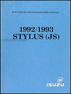 how to download repair manuals 1993 isuzu stylus electronic toll collection 1992 1993 isuzu stylus electrical troubleshooting manual original