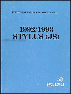 best car repair manuals 1992 isuzu stylus electronic valve service manual 1993 isuzu stylus body repair manual